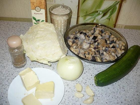 Продукты, необходимые для приготовления начинки
