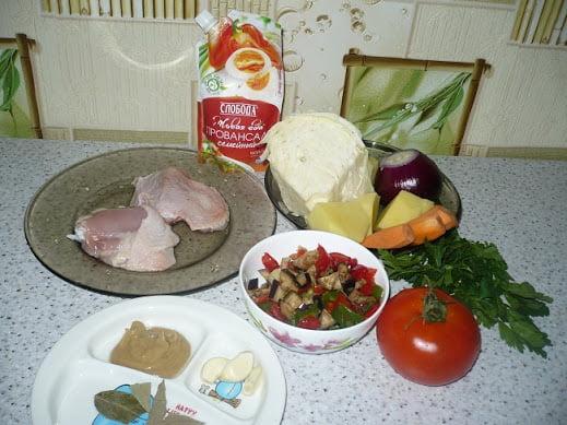 Ингредиенты, необходимые для приготовления рагу