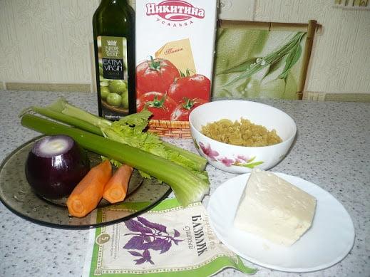 Ингредиенты необходимые для приготовления супа