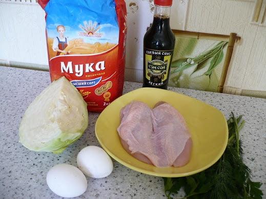 Ингредиенты, необходимые для приготовления блинчиков