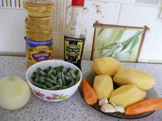 Ингредиенты необходимые для приготовления жаркого