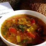 Суп с тыквой и фасолью
