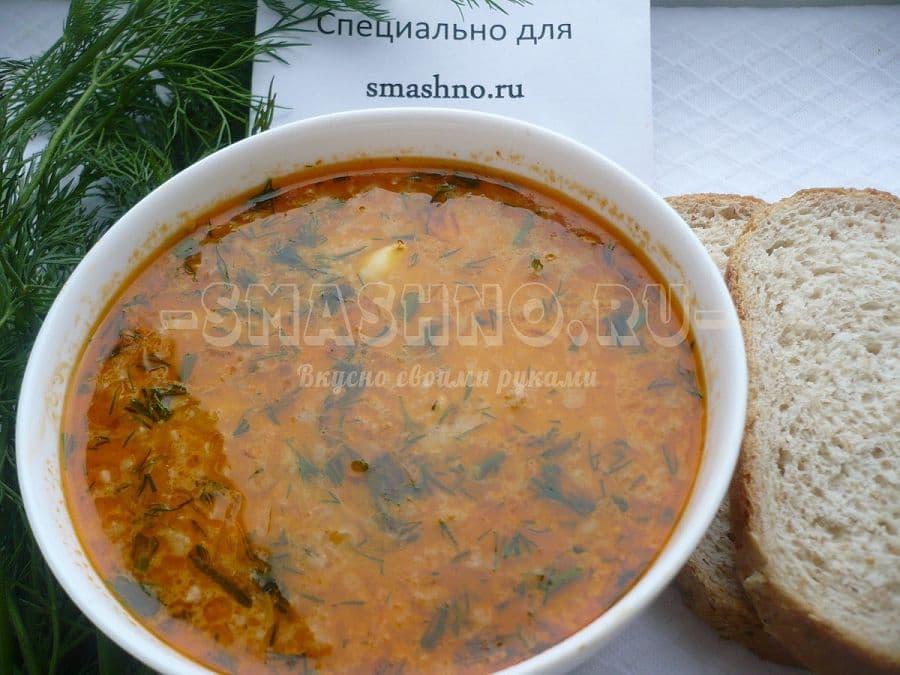 Сырный суп с фаршем