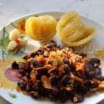 Гарнир из фасоли с овощами