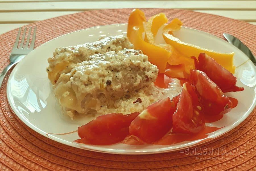 Куриные рулетики с сыром и овощами