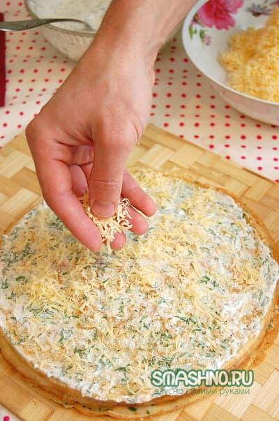 Начинка со сметаной и тертым сыром