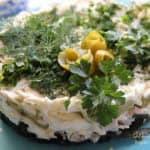 Салат с морской капустой и курицей