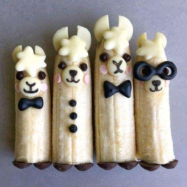 Ламы из бананов
