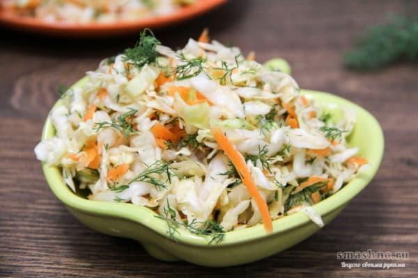 Салат со свежей капустой и морковью