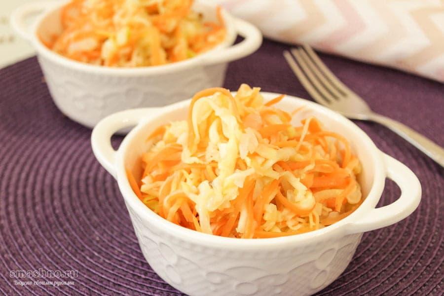 Кабачки по-корейский с морковью