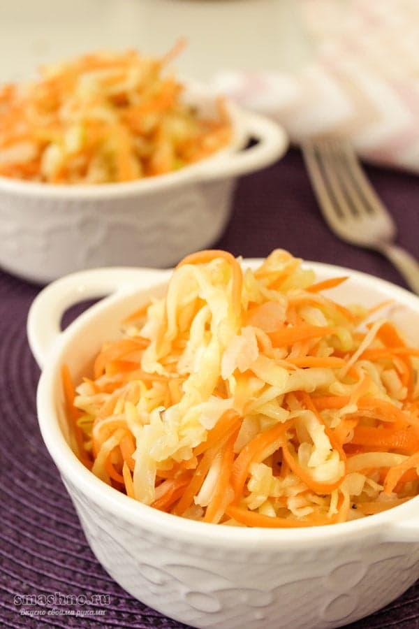 Кабачки по-корейски с морковкой