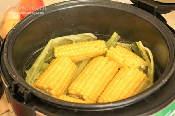 Приготовление кукурузы в мультиварке