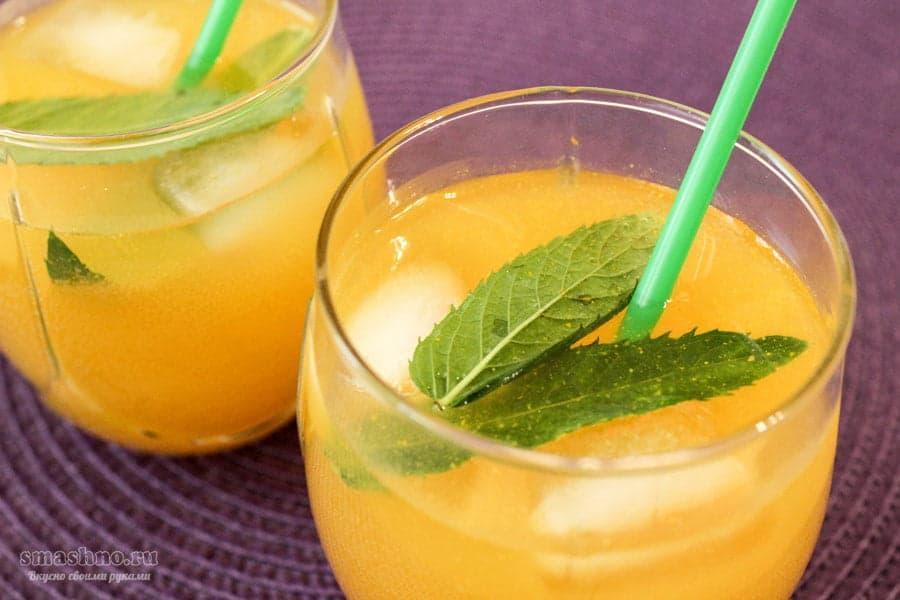 Карамельный лимонад с апельсином и лимоном