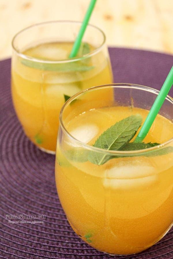 Карамельный лимонад с лимоном и апельсином