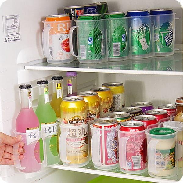 Пластиковый контейнер с ручкой для банок с напитками и бутылок