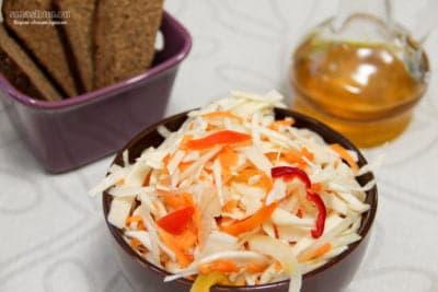 Солёная капуста с болгарским перцем и морковью