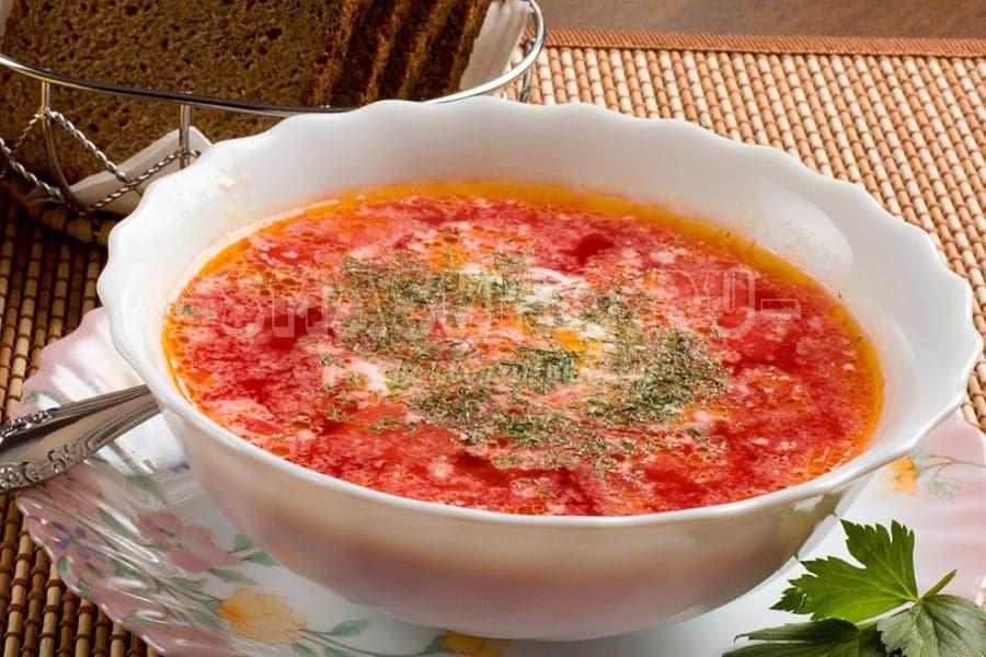 как приготовить борщ с свининой и помидоров